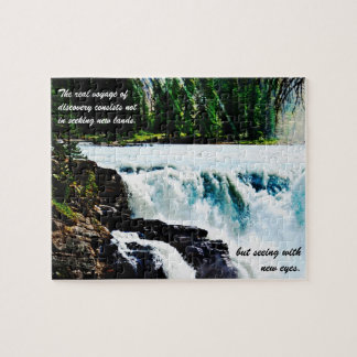 Glacial Waters Waterfall Jigsaw Puzzle