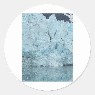Glaciar 1 de Alaska Pegatina Redonda