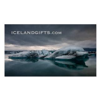 Glaciar #1 elegante tarjetas de visita