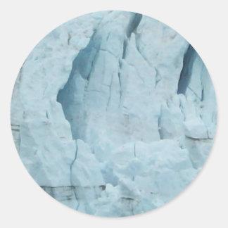 Glaciar 2 de Alaska Pegatina Redonda