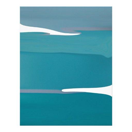 Glaciar azul membrete a diseño