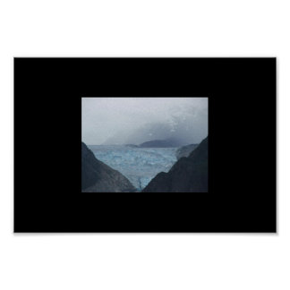 Glaciar - brazo Alaska de Tracy Poster