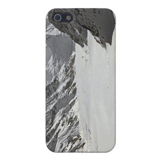 Glaciar de Aletsch - en negro iPhone 5 Carcasa