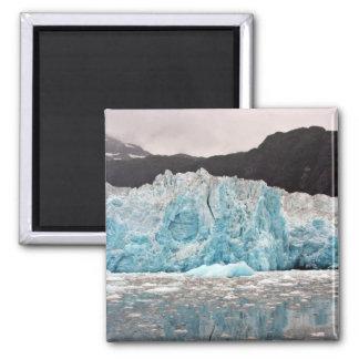 Glaciar de Chenega Imán Cuadrado