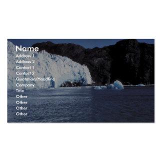 Glaciar de Chenega Plantilla De Tarjeta Personal