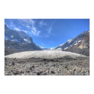Glaciar de Columbia, ruta verde de Icefields Impresion Fotografica
