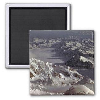 Glaciar de Kahiltna según lo visto del monte McKi Imán Para Frigorifico
