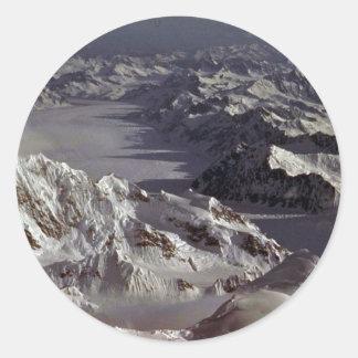 Glaciar de Kahiltna según lo visto del monte McKi Etiquetas