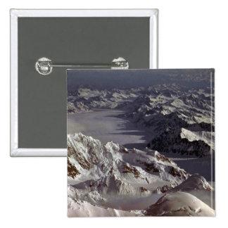 Glaciar de Kahiltna según lo visto del monte McKi Pin
