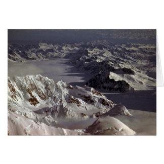 Glaciar de Kahiltna según lo visto del monte McKi Tarjetón