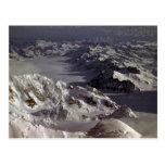 Glaciar de Kahiltna, según lo visto del monte McKi Postal