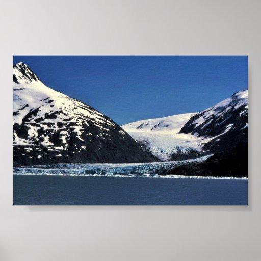 Glaciar de la marea póster