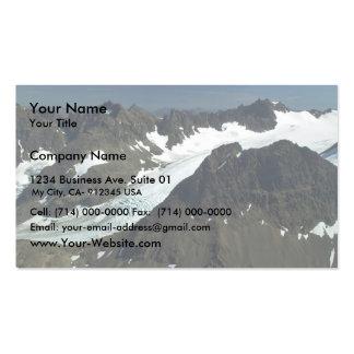 Glaciar de la montaña plantillas de tarjetas de visita