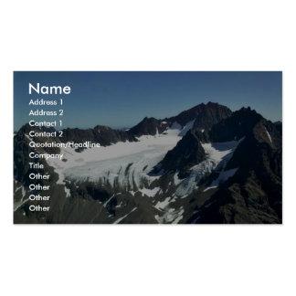 Glaciar de la montaña tarjetas de visita