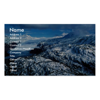 Glaciar de la montaña tarjeta de negocio