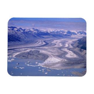 Glaciar de Lowell de la visión aérea, nacional de  Imanes Flexibles