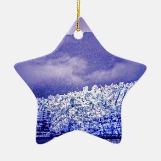 Glaciar de Margerie Adorno Navideño De Cerámica En Forma De Estrella