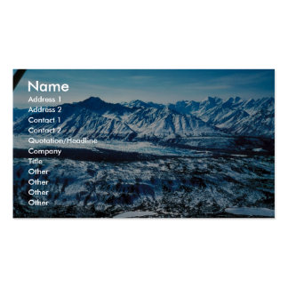 Glaciar de Matanuska Plantilla De Tarjeta Personal