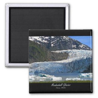 Glaciar de Mendenhall/Juneau Alaska Imán Cuadrado