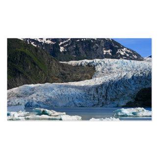 Glaciar de Mendenhall/Juneau Alaska Tarjetas De Visita
