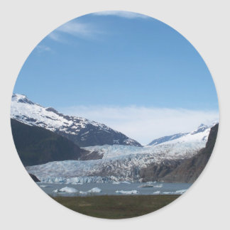 Glaciar de Mendenhall Pegatina Redonda