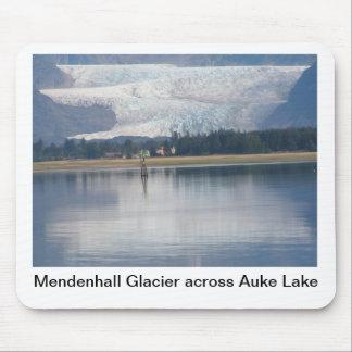 Glaciar de Mendenhall y lago auke Alfombrilla De Ratones