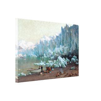 Glaciar de Muir de la colina de Thomas Alaska Impresión En Lona