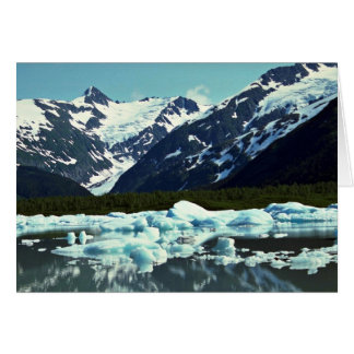 Glaciar de Portage al norte del puerto Seward Al Tarjetón