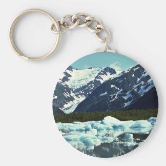 Glaciar de Portage, al norte del puerto Seward, Al Llavero Redondo Tipo Pin