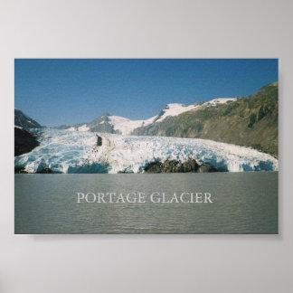 Glaciar de Portage, Alaska Póster