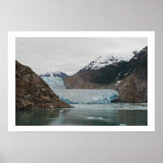 Glaciar del aserrador - fiordo del brazo de Tracy Póster