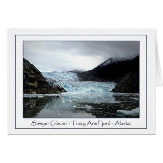 Glaciar del aserrador tarjeta pequeña