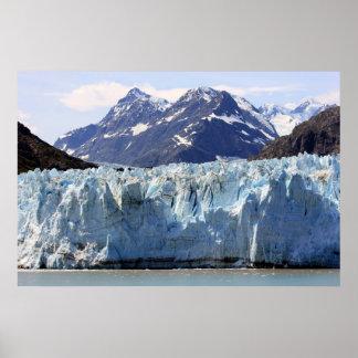 Glaciar en la impresión de Alaska