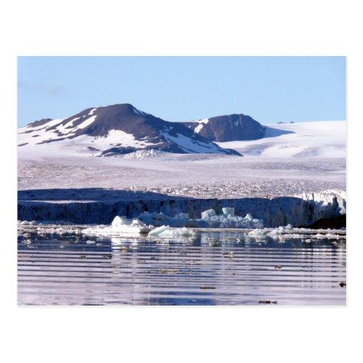 Glaciar en Svalbard Tarjetas Postales
