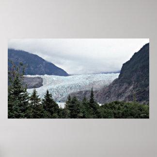 Glaciar Juneau Alaska de Mendenhall Póster