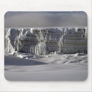 Glaciar meridional Mt Kilimanjaro Alfombrillas De Ratones