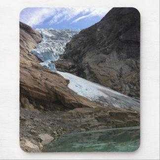 Glaciar noruego alfombrilla de ratón