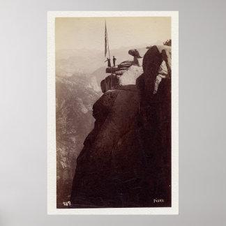 Glaciar pinta de Fiske. Yosemite 1870 Póster