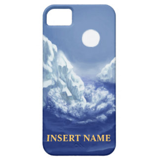 Glaciar que se rompe con el nametag - casamata del iPhone 5 funda