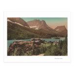 Glaciar, TA - vista de chalets y St. Marys del lag Tarjeta Postal