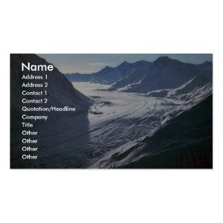 Glaciar Plantilla De Tarjeta De Negocio