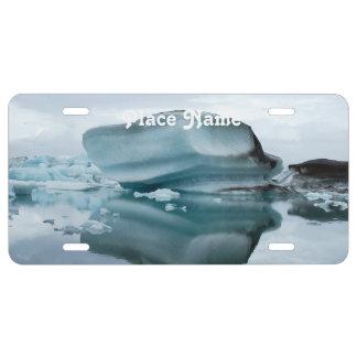 Glaciares de Islandia Placa De Matrícula