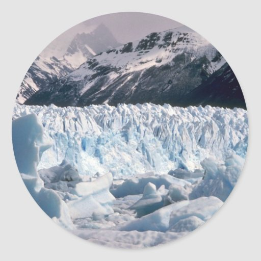 Glaciares e icebergs pegatina redonda