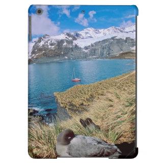 Glaciares y yate de la navegación en fondo carcasa para iPad air