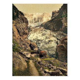 Glacier and Baregg Inn, Grindelwald, Bernese Oberl Postcard