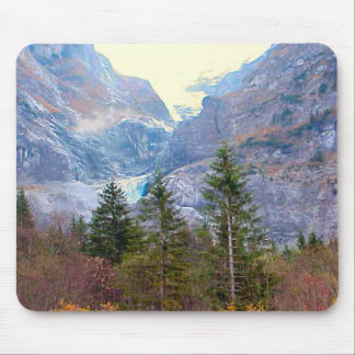 Glacier and conifers mouse pad