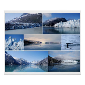 Glacier Bay Alaska Collage 24 x 20 Poster