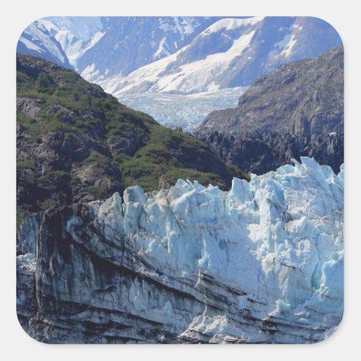 Glacier Bay, Alaska Calcomanías Cuadradass Personalizadas