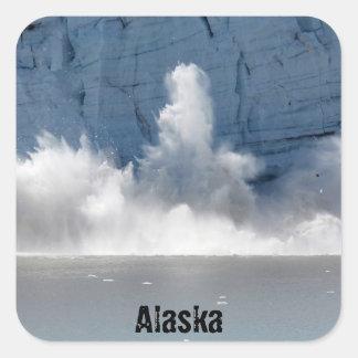 Glacier Bay, Alaska Pegatina Cuadrada