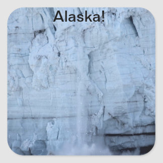 Glacier Bay, Alaska Square Sticker